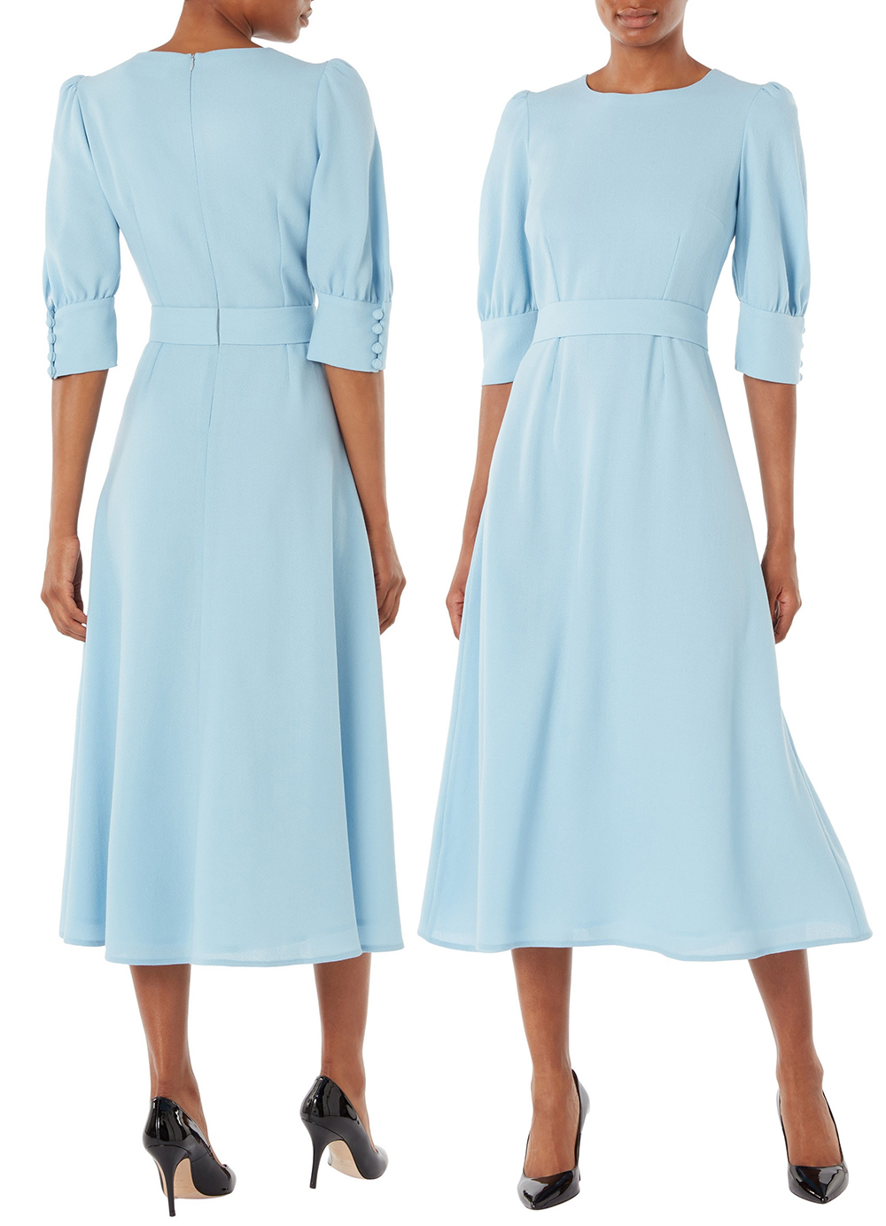 Powder Blue Mother of the Bride Dress 2021. Ice Blue Mother of the Bride Dress 2021. Pale Blue Mother of the Bride Dresses 2021. Summer Mother of the Bride Dresses 2021. Outfits for Mother of the Bride 2021. Goat Dress as worn by Kate mIDDLETON. What to wear for a Summer wedding 2021. Summer Mother of the Bride outfits 2021. Goat Powder Blue Dress.
