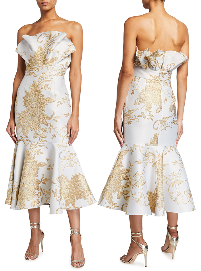 Mother of the Bride dress for Spring Wedding 2021. Gold Mother of the Bride Dress 2021. Champagne Gold Mother of the Bride Dress. What to wear for a spring wedding 2021. Gold Floral Mother of the Bride outfit. Spring Mother of the Bride outfits 2021. Mother of the Groom Dresses 2021.
