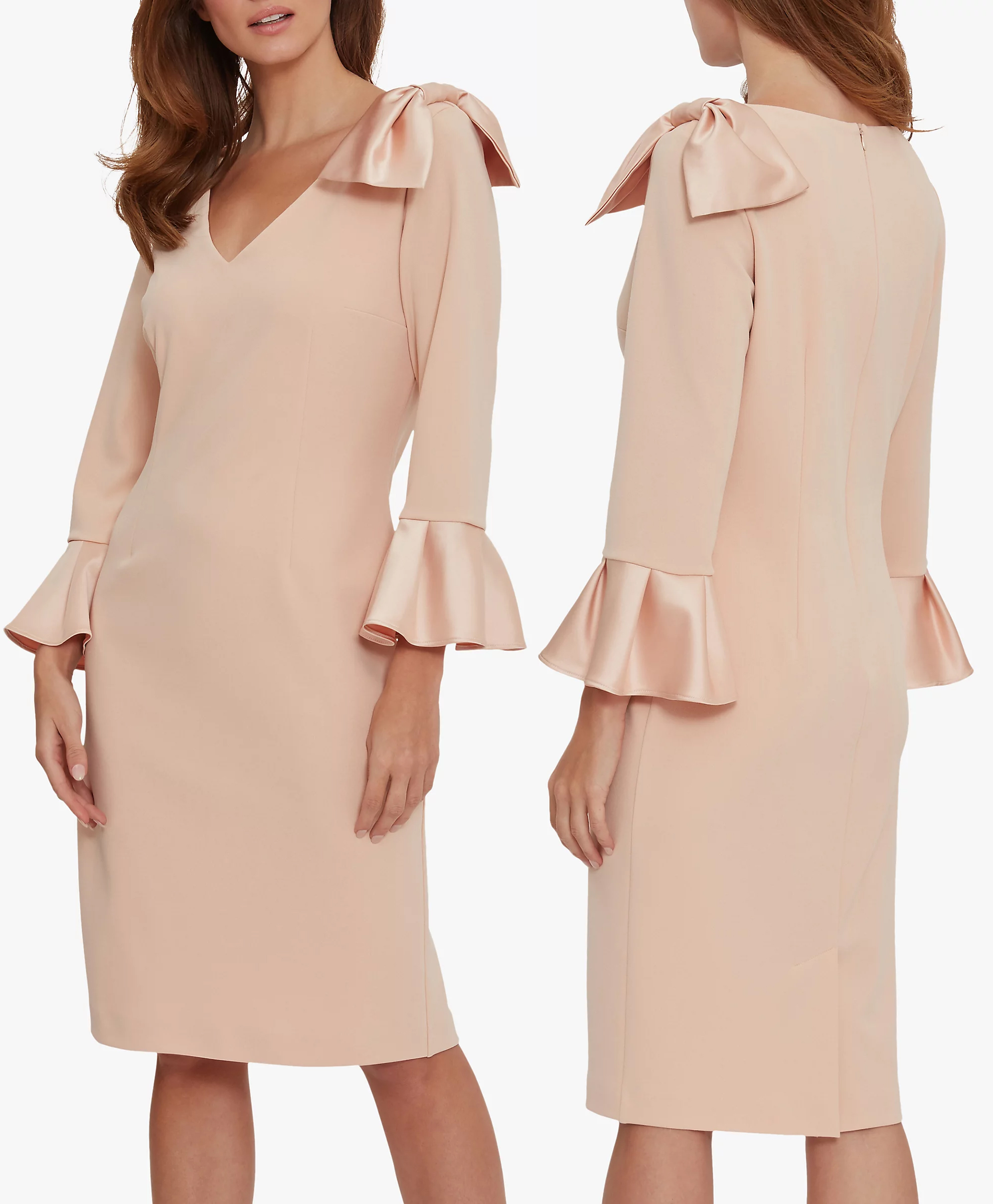 Mother of the Bride dress for Spring Wedding 2021. Soft Peach  Mother of the Bride Dress 2021. Peach Mother of the Groom Dress 2021. What to wear for a Spring Summer Wedding 2021. Nude Colour Mother of the Bride outfit 2021. Fashionable Spring Mother of the Bride outfits 2021. Mother of the Groom Dresses 2021.