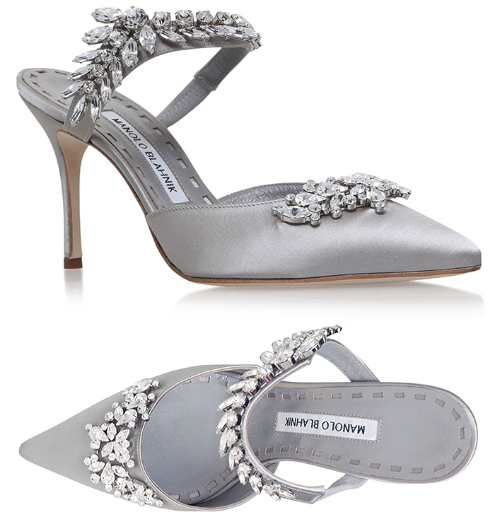 Manolo Blahnik Shoes 2020. Autumn Mother of the Bride Shoes 2020. Spring Mother of the Bride Shoes 2021. Autumn Wedding Mother of the Bride Outfits 2020. Manolo Blahnik Lurem Shoes 2020. Best shoes for Mother of the Bride 2020. Silver and Crystal Mother of the Bride Shoes 2020.