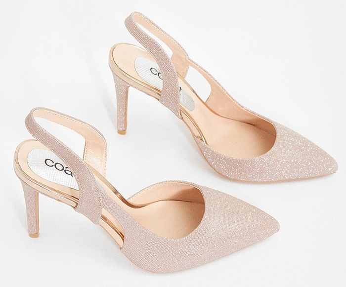 Blush Pink Mother of the Bride Shoes 2020. Mother of the Bride Shoes for Autumn weddings 2020. Wedding Guest Outfits 2020. Mother of the Bride Outfits 2020, Shoes for Mother of the Bride 2020. Mother of the Groom Shoes 2020. Metallic Blush Pink Shoes 2020