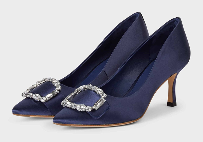 Navy Blue Mother of the Bride Shoes. Navy Satin Mother of the Bride Shoes 2021. Navy Blue shoes for Mother of the Bride 2021. Mother of the Bride Outfits Spring 2021, Mother of the Groom Outfits UK, Wedding Shoes for Mother of the Bride 2021. Spring Wedding outfit ideas 2021