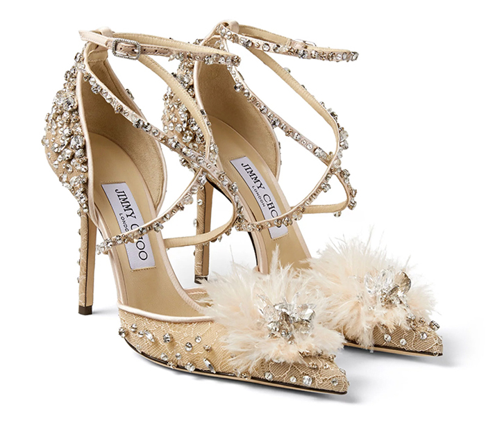 Jimmy Choo Ballet Pink Crystal Shoes. Mother of the Bride Shoes. Jimmy Choo Mother of the Bride Shoes 2020. Spring Wedding Mother of the Bride Outfits 2020. Luxury shoes for Mother of the Bride. Designer Mother of the Bride Shoes 2020.