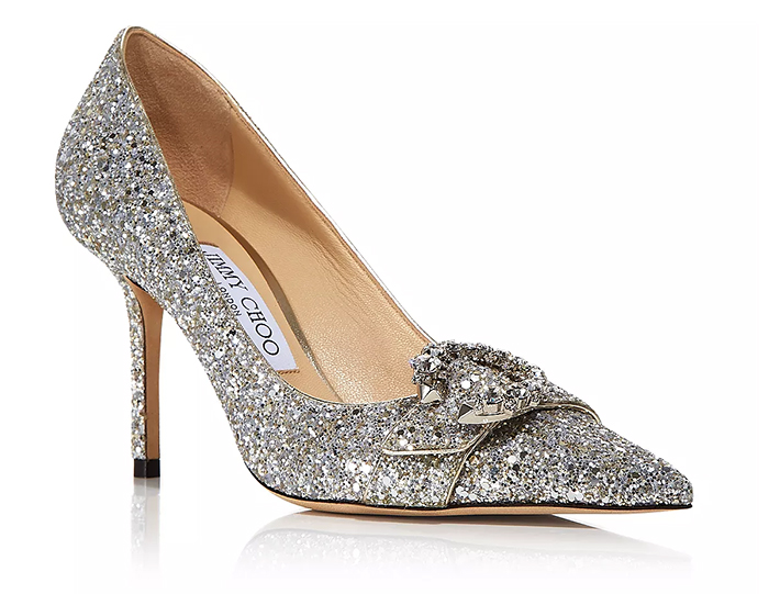 Jimmy Choo Mother of the Bride Shoes 2021. Jimmy Choo Crystal Shoes 2021. Mother of the Bride outfits 2021. Jimmy Choo Saresa Shoes 2021. Silver Mother of the Bride Shoes 2021. Shoes for a Spring Wedding guest 2021. Mother of the Bride Outfits 2021.