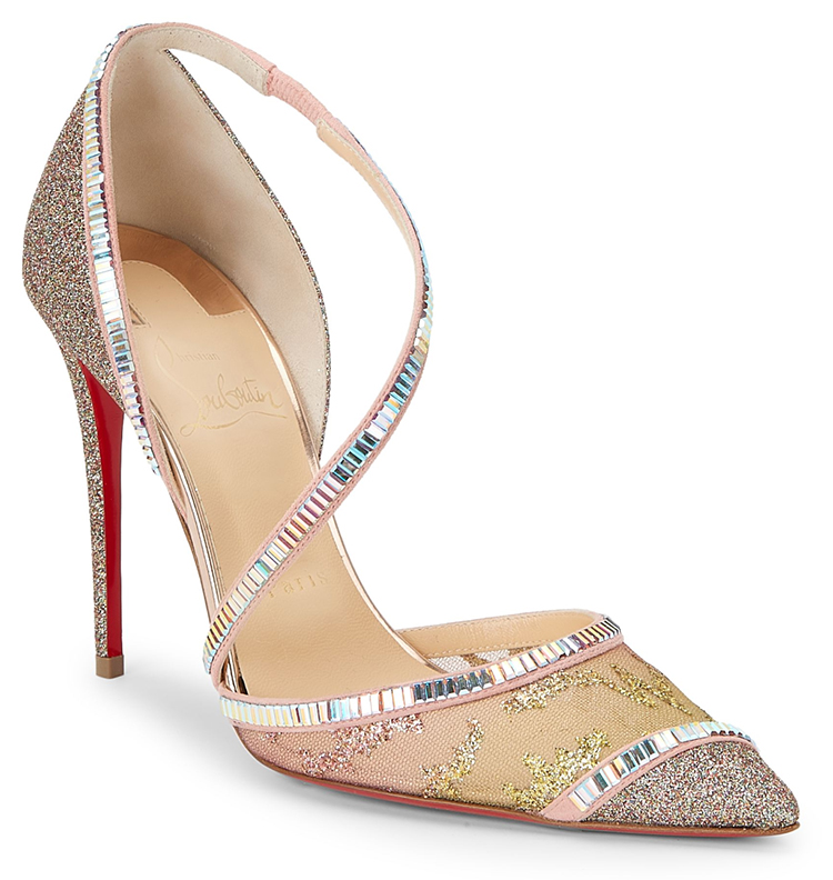 Christian Louboutin Crystal Shoes. Christian Louboutin Mother of the Bride Shoes. Mother of the Bride Outfits. Luxury Mother of the Bride Outfits. What to wear to a Fall Wedding. Shoes for a Fall Wedding