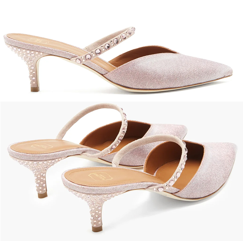 Malone Souliers Pink Crystal Shoes 2020. Pale Pink Shoes for Mother of the Bride 2021. Blush Pink Mother of the Bride Shoes 2021. Shoes for Spring Wedding Mother of the Bride 2021. Summer Wedding Mother of the Bride Outfits 2021. Designer Shoes for Weddings. Malone Souliers Marla Shoes 2021. Best shoes for Mother of the Bride. Pretty Mother of the Bride Shoes