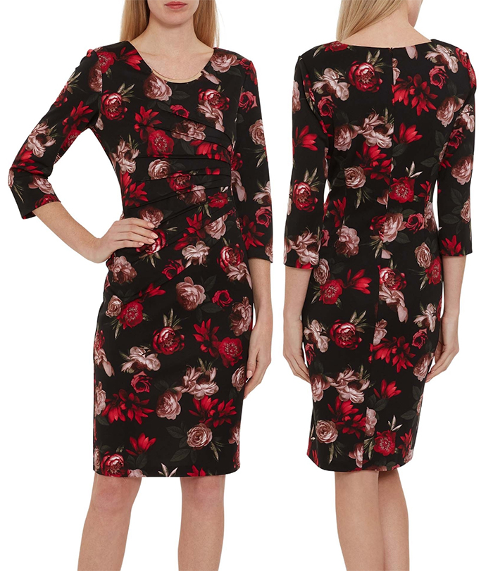 Mother of the Bride dress for Spring Wedding 2021. Gina Bacconi Red Floral Dress. Dress for Remembrance Day 2021. What to wear for a Spring wedding. Spring Mother of the Groom Dress 2021. Mother of the Groom Dresses 2021. Winter Wedding Guest Outfit ideas