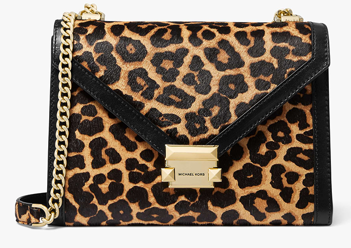 Michael Kors Leopard Print Bag 2019. Animal Print Bags 2019. Leopard print Fashion Trend 2019. How to wear animal print 2019. Leopard print trend 2019. Animal Print outfit ideas. Animal Print Fashion. How to wear Animal Print in Winter. Animal Print Accessories. Gifts for her. Leopard Print Gift Ideas.