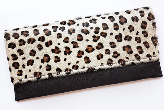 Animal Print Clutch bag, Animal Print Bags, Leopard Print Clutch Bags, Animal Print Fashion, How to wear Animal Print, Animal print outfit ideas, Bags for Winter Wedding Guest Outfits.