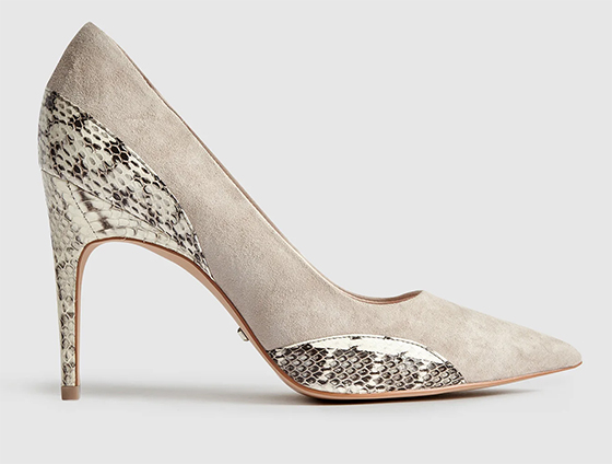 Reiss Snake Print Shoes. Animal Print Court Shoes. Shoes with Animal Print. Leopard print Fashion. Ideas for wearing Animal Print
