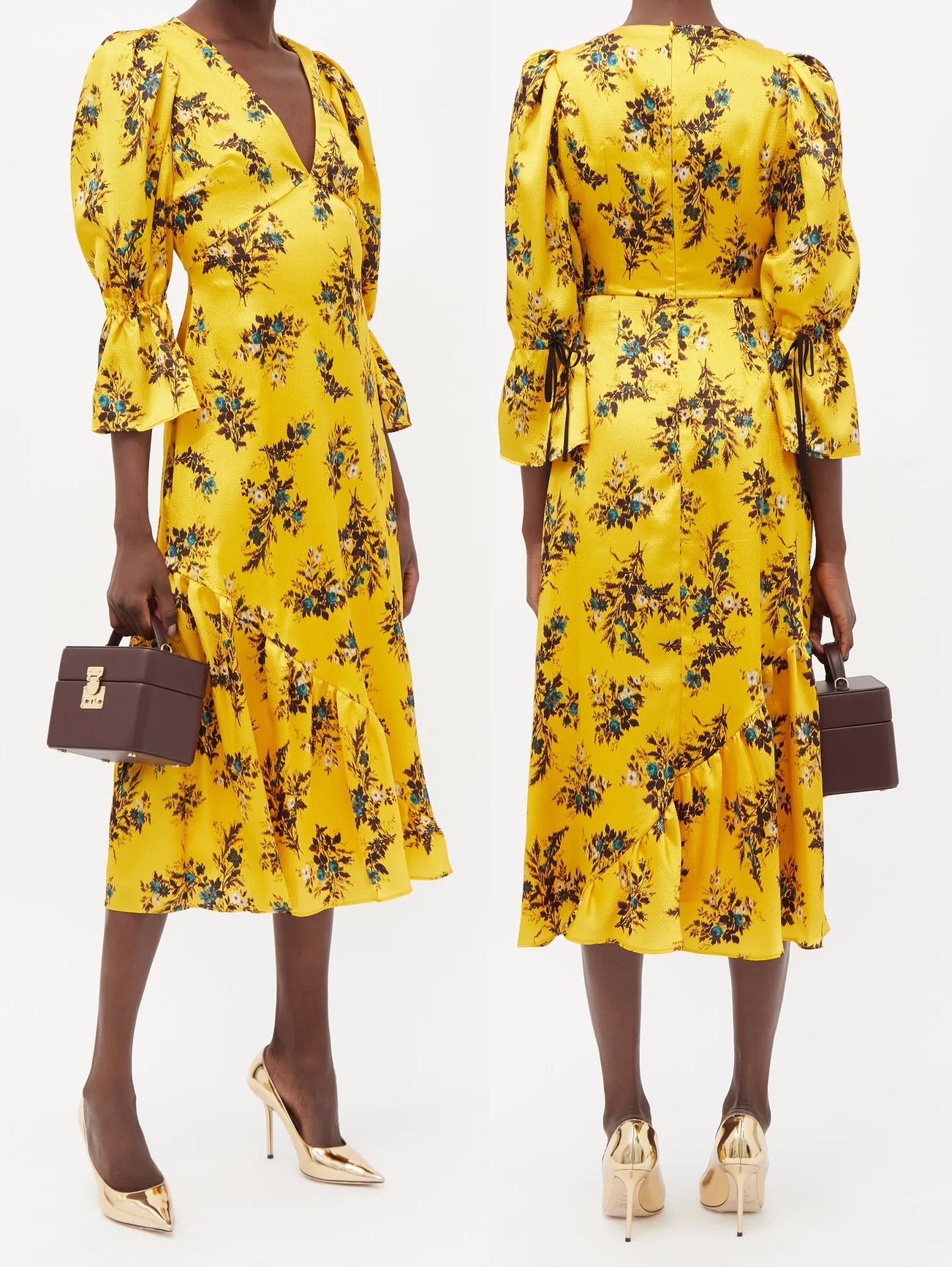 Erdem Elmer Dress 2021. Floral Yellow Dress for Royal Ascot 2021. Yellow Floral Midi Dress 2021. Dress for Royal Ascot 2021. How to Dress for Royal Ascot 2021. What to wear for Royal Ascot 2021. Royal Ascot Outfits. Designer Dress for Royal Ascot. Dress in Pantone Illuminating Yellow 2021. How to wear Illuminating Yellow 2021. Royal Ascot Fashion 2021. Royal Ascot Outfit Ideas 2021.