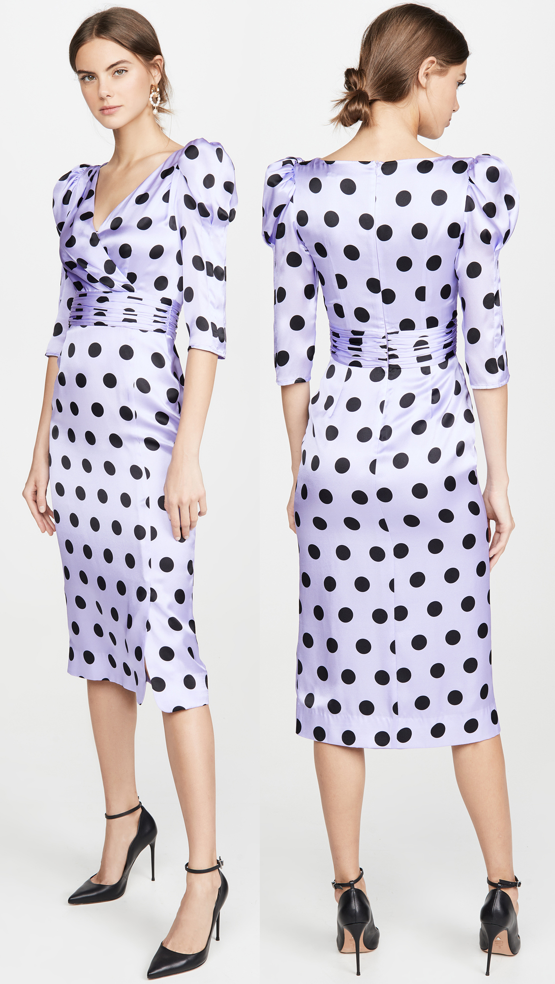 Polka Dot Dress for Kentucky Derby 2020. Lilac Dress for Kentucky Derby 2020. Midi Length dresses for the Kentucky Derby 2020. Dresses for the Kentucky Derby 2020. Dresses allowed for Royal Ascot 2020. Royal Ascot Dress Code 2020. Polka Dot dresses for the races. What to wear to the Races 2020.