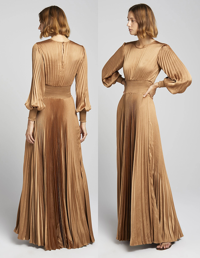 Long Pleated Dress 2021. Pleated Maxi Dress 2021. Pleated Dress for the Races 2021. Dress for Royal Ascot 2021. Outfits for the Kentucky Derby 2021. What to wear to Kentucky Derby 2021. What to wear for a day at the races 2021. Outfit ideas for the Races 2021. Summer Wedding Guest Dress 2021. Best Nude Coloured Dresses 2021.