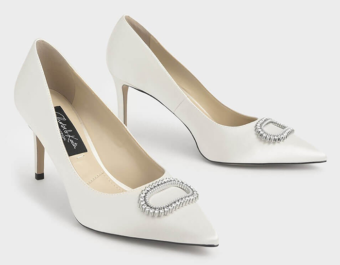 White Bridal Shoes 2020. White with Crystal Shoes 2020. Cheap Bridal Shoes 2020. Bridal Shoes under £100.00 for 2020. Bridal shoes for Autumn 2020. Cheap Medium Heel Bridal Shoes 2020. Bridal Shoes with Crystals 2020. Cheap Bridesmaids Shoes 2020. Winter Wedding ideas 2020.