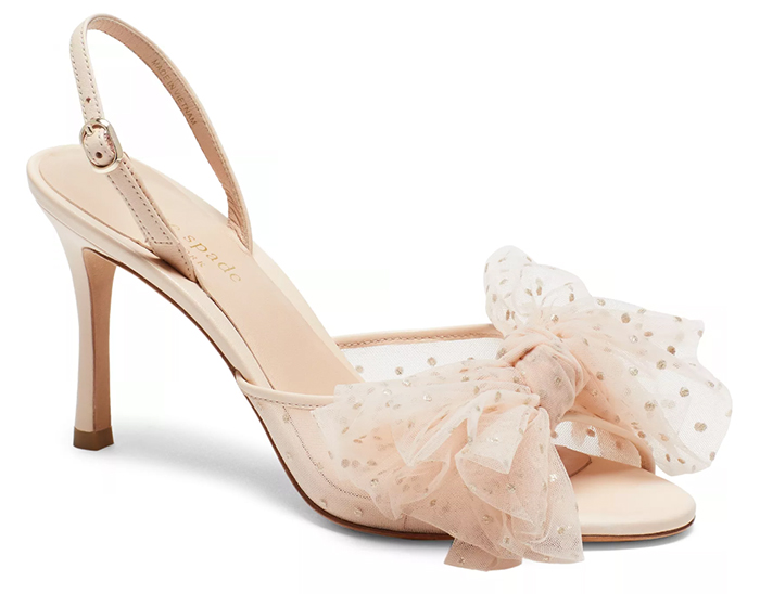 Kate Spade Bridal Shoes 2020. Bridal Shoes with Tulle 2020. Blush Bridal Shoes 2020. Blush Pink Wedding Shoes 2020. Mid Price Wedding Shoes 2020. Best Bridal Shoes for Autumn Weddings 2020.