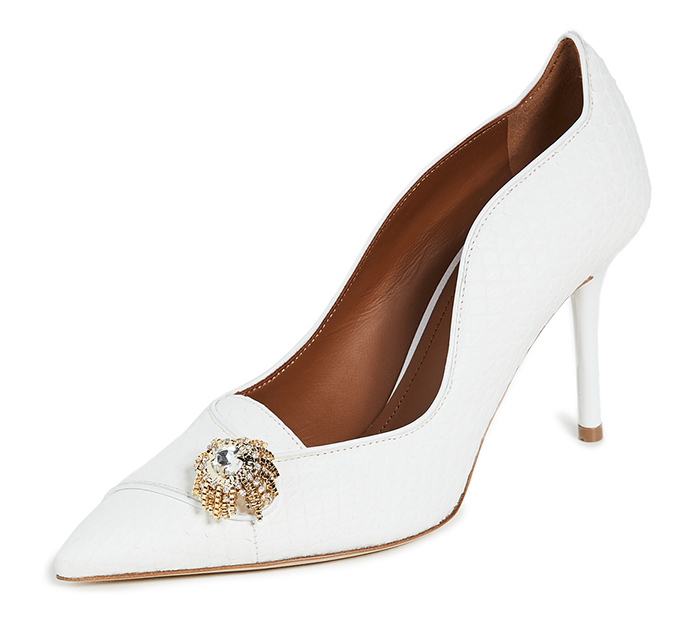 Malone Souliers High Heel Bridal Shoes 2020. New Season White Bridal Shoes 2020. High Heel Bridal Shoes for Summer 2020. Bridal Shoes with Crystals 2020. Designer Bridal Shoes 2020. Luxury Wedding Shoes 2020. Luxury Bridal Shoes.