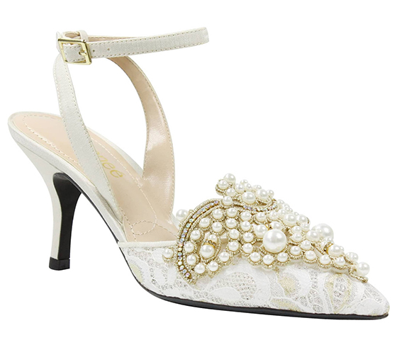 Lace with Pearls Bridal Shoes 2020. Embroidered White Shoes. Cheap Wedding Shoes. Bridal Shoes under £100.00. Bridal shoes under $120. Cheap Bridal Shoes 2020. Gold Glitter Shoes 2020. Bridesmaids Shoes. Cheap Bridesmaids Shoes. Spring Wedding ideas