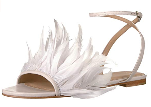 Bridal Shoes under £100.00. Feather Bridal Shoes. Flat Bridal Shoes. Bridal Shoes for a Beach wedding. Spring Wedding Bridal Shoes. Best Budget Bridal Shoes. Bridal Shoes on a Low Budget