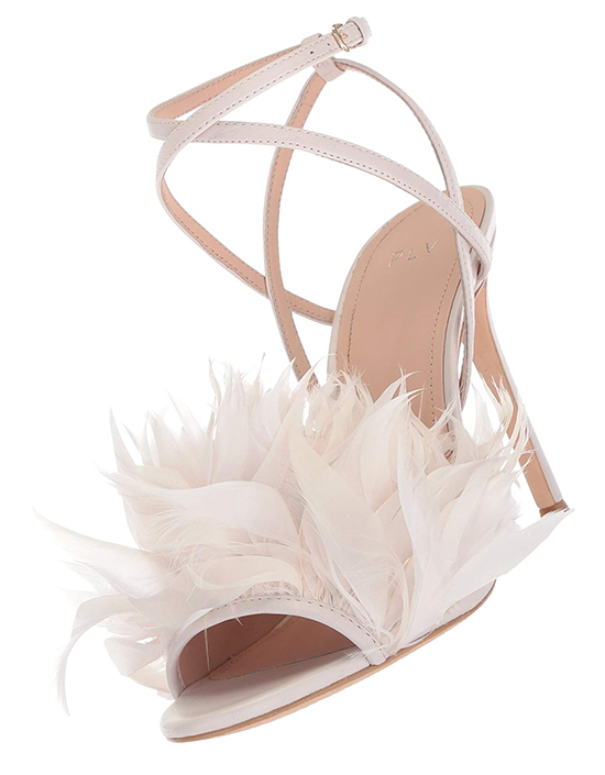 Bridal Sheoes with Feathers. Feather Wedding Shoes. High Heel Bridal Shoes. High Heel Wedding Shoes. Shoes for a Summer Wedding. Shoes for a Spring Wedding. Best Bridal Shoes. Designer Bridal Shoes