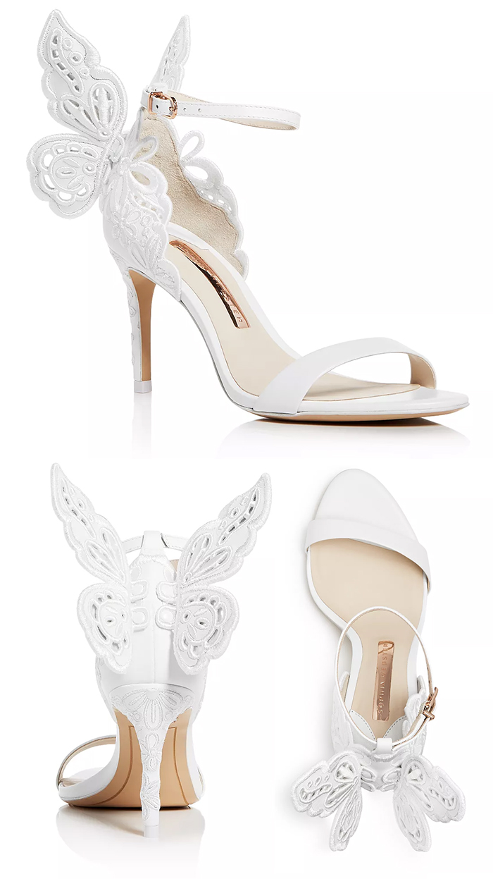 Sophia Webster Wifey for Lifey Shoes, Sophia Webster Bridal Shoes 2020. Sophia Webster Butterfly Bridal Shoes 2020. Sophia Webster Chiara White Bridal Shoes 2020. Best Shoes for Summer Brides 2020. Spring Wedding Ideas 2021. Luxury Wedding Shoes 2020.