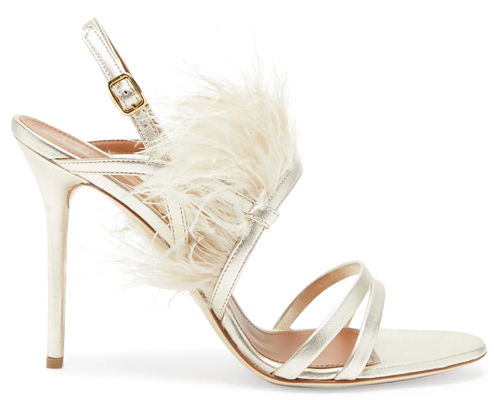 Malone Souliers Feather Shoes 2020. Feather Embellished Bridal Shoes 2020. High Heel Bridal Shoes 2020. Designer Wedding Shoes 2020. Bridal shoes with Feathers 2020. Designer Wedding Shoes 2020. Luxury Wedding Shoes 2020. Luxury Bridal Shoes 2020.