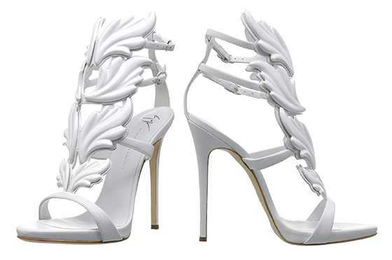 Guiseppe Zanotti White Shoes. Guiseppe Zanotti Bridal Shoes. High Heel Bridal Shoes. White Leather Bridal Shoes. Designer Bridal Shoes. Luxury Wedding Shoes. Luxury Bridal Shoes.