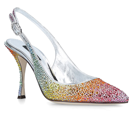 Dolce & Gabbana Rainbow Shoes. Dolce and Gabbana Shoes. High Heel Bridesmaids Shoes. Dolce & Gabbana Crystal Shoes. Designer Bridesmaids Shoes. Luxury Bridesmaids Shoes.