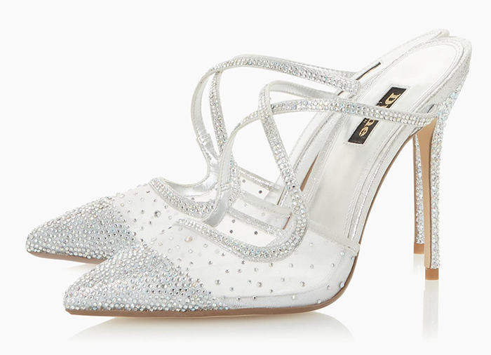 Silver Crystal Bridesmaids Shoes 2020. Best Bridesmaids Shoes 2020. Bridesmaids shoes for City Weddings 2020. Dune Bridesmaids Shoes 2020. Silver Shoes with Crystals 2020. Silver Bridesmaids Shoes 2020. Best Summer Wedding Bridesmaids Shoes 2020. Autumn Wedding Bridesmaids Shoes 2020.