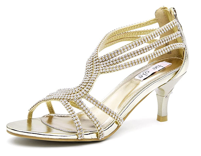 Gold Bridesmaids Shoes under £100.00. Cheap Gold Bridesmaids Shoes 2020. Cheap Gold Bridal Shoes 2020. Summer Wedding Bridesmaids Shoes 2020. Medium Heel Bridesmaids Shoes 2020. Best Bridesmaids Shoes for Summer Weddings 2020.