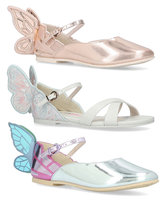 Young Bridesmaids Shoes. Butterfly Bridesmaids Shoes. Low Heel Bridesmaids Shoes. Bridesmaids Shoes for girls. Bridesmaids Shoes for a Summer Wedding. Bridesmaids Shoes for a Spring Wedding. Best Bridal Shoes. Sophia Webster Kids Shoes