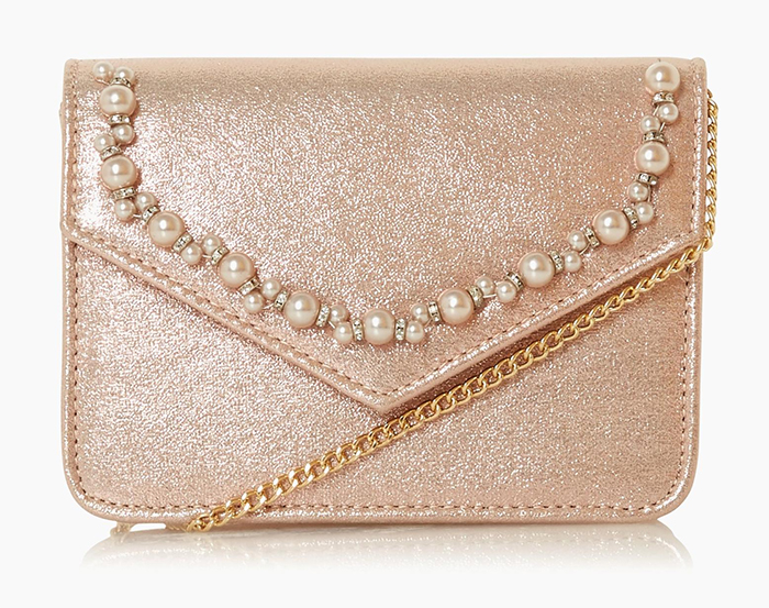 Rose Gold Mother of the Bride outfits 2020. Rose Gold Clutch Bags 2020, Rose Gold Mother of the Bride Clutch Bag 2020, Spring Mother of the Bride Outfits 2020. Pretty Mother of the Bride Bags 2020. What to wear to a Summer wedding 2020.