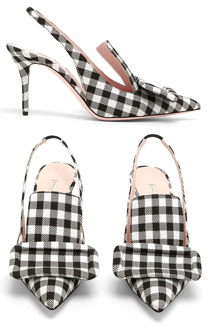 Emilia Wickstead Black and White Shoes 2020. Emilia Wickstead Gingham Shoes 2020. Shoes for a Fall Wedding 2020. What to wear for an Autumn wedding 2020. Autumn Wedding Outfits 2020. Fall wedding guest outfits 2019. What to wear to an Autumn wedding. Orange Midi dress. Orange Long Sleeve Dress.