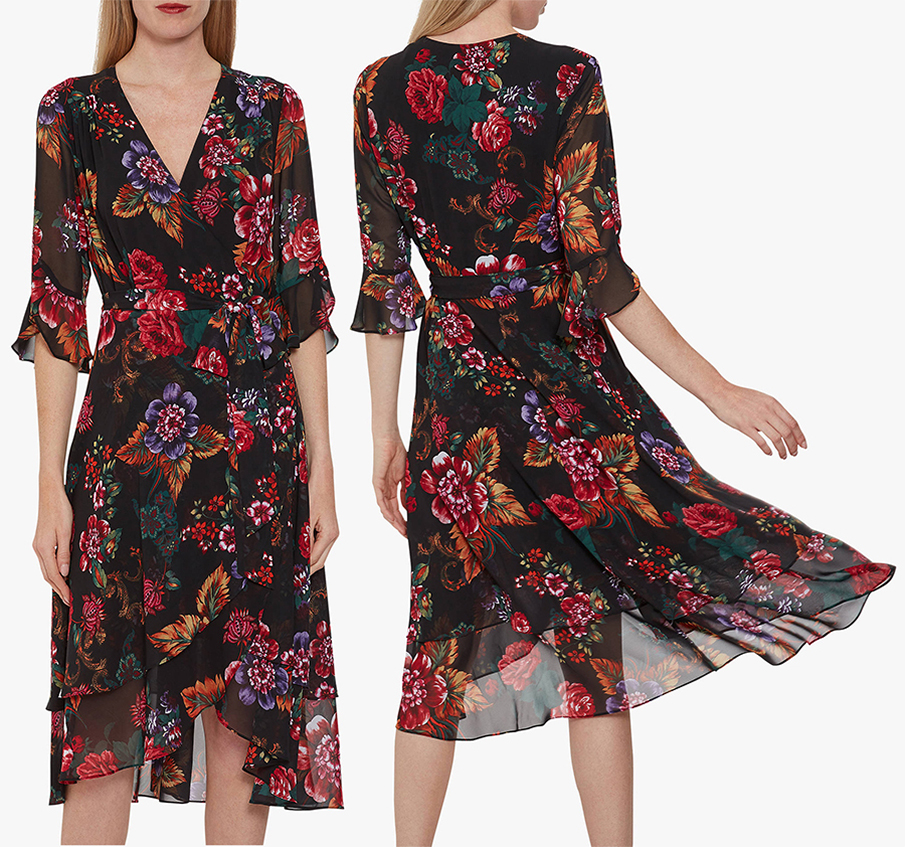 Wrap Dress for a Fall Wedding. What to wear for a fall wedding. Autumn Wedding Outfits 2019. What to wear to an Autumn wedding UK. Dress for an Autumn Wedding 2019.