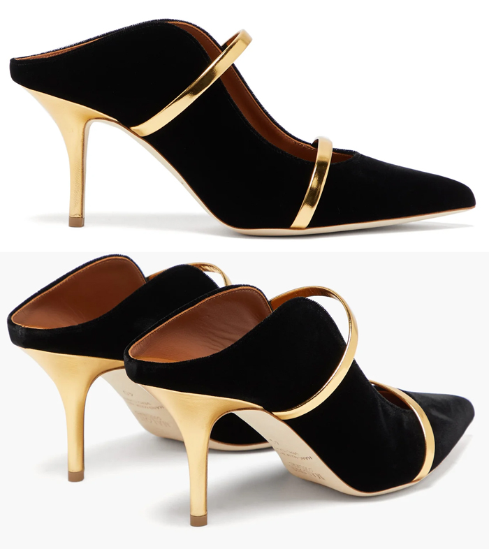 Black and Gold Shoes 2020. What to wear for a Winter Wedding 2020. Winter Wedding Guest Outfit ideas 2020. Winter Fashion Shoes 2020. Malone Souliers Shoes 2020. What to wear to a Winter Wedding 2020. Winter Mother of the Bride Outfits 2020.