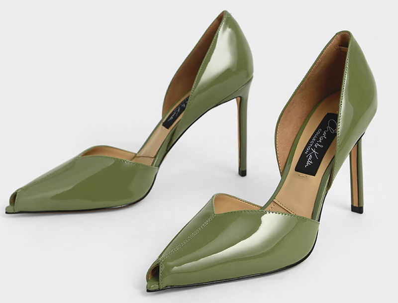 Olive Green Shoes for an Autumn wedding. Autumn wedding Guest Outfit ideas 2020. Green High Heel Shoes 2020. Fall wedding Guest outfit ideas 2020. What to wear for a Autumn Wedding 2020. Fall Fashion Shoes. Shoes for a Autumn Wedding 2020. Autumn Mother of the Bride Outfits 2020