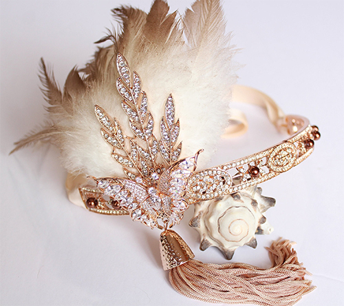 Gold Flapper Girls Headbands. Great Gatsby Fashion  Outfits. What to wear for a Gatsby Theme Party. What to wear for 1920s Theme Party. Downton Abbey Outfits. Downton Abbey Halloween Party Ideas. What to wear for New Years Eve 2020