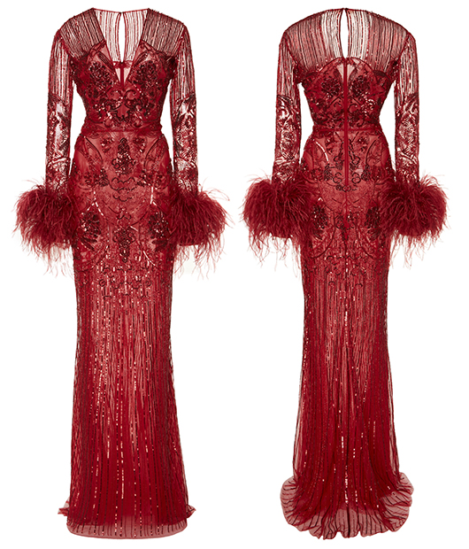 The very best dresses for a 20's theme party. Long Sequin gown with feathers. Long Beaded Flapper Dress. Art Deco Dresses. Art Deco Fashion. What to wear for a Gatsby Theme Party. What to wear for 1920s Theme Party. Long Vintage Beaded Dresses. Murad Feather Dress