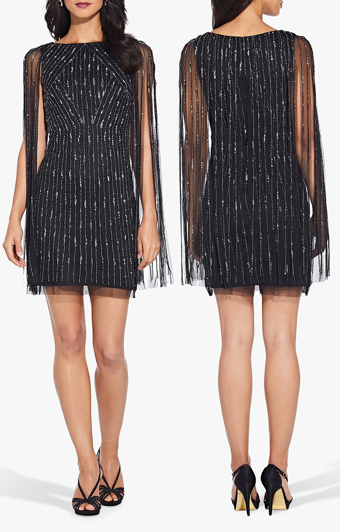 Fringed Art Deco Inspired Dress. Art Deco Fashion. Gatsby Dress, 1920s Dress for Gatsby Fancy Dress. Vintage 1920's inspired Gatsby Party Outfits. 1920's New Years Eve 1920 ideas. Art Deco Costume. Gatsby Halloween Party Outfits. Adrianna Papell Sequin Dresses. How to Wear 20's Fashion