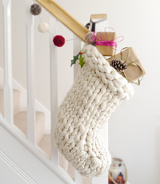Chunky Knits. Chunky Knit Christmas Stick. Hand Made Gifts. Handmade Gifts. Christmas Gift Ideas. Christmas Stocking. Christmas Gifts for Kids.Cosy Christms Gifts. Hygge Christmas Gifts. Rustic Christmas Ideas.
