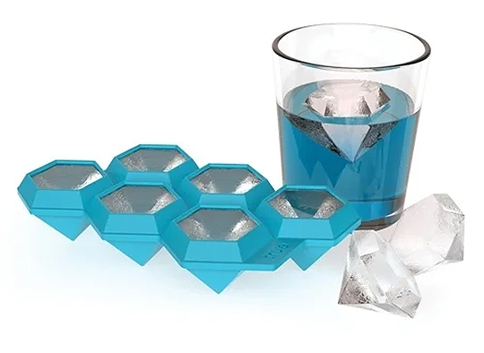 Diamond Shape Ice Cube Tray. Gifts for Friends. Stocking Stuffers. Christmas Gift Ideas. Christmas Gift Guide