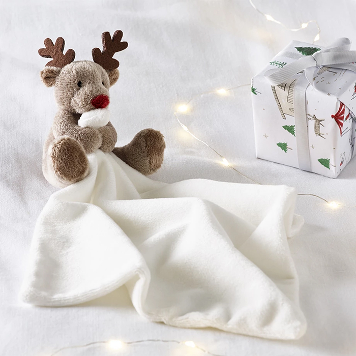 The White Company Christmas Gifts. the White Company Reindeer Baby Comforter. Baby Comforters for Christmas 2020. Gift ideas for New Borns 2020. Gifts for Babies 2020. Christmas Gift Ideas 2020. Christmas Gifts 2020. Best Selling Christmas Gifts 2020.
