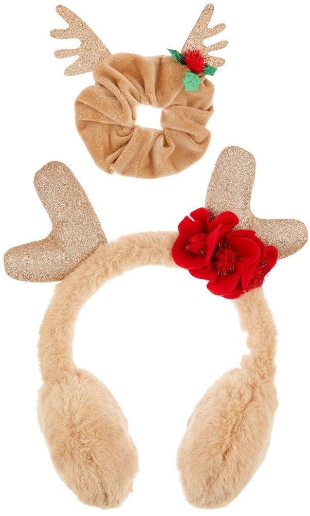 Gift ideas for young kids 2020, Gifts for Young Girls 2020. Fun festive clothes. Reindeer Scrunchie. Christmas Presents for Little Girls 2020.