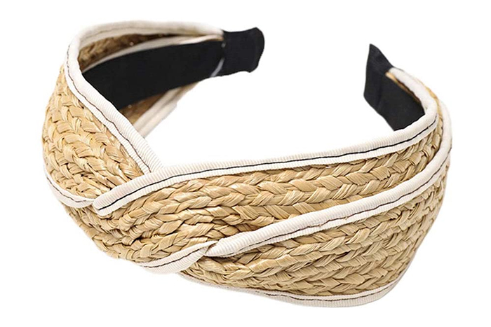 Raffia Thick Headbands, Best Raffia Headbands 2020, Wide Summer Headbands 2020. Oversize Headbands 2020, Raffia Hair Accessories 2020, Summer Hair Accessories 2020. Wide Headbands 2020.