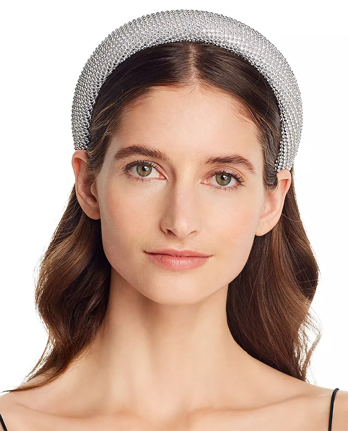 Silver Crystal Headband 2020. Best Embellished Headbands for Summer 2020. Best Padded Headbands 2020. Spring Summer Fashion Hair Trends 2020. Best Hair Accessoroes 2020. Oversize headbands fashion trend 2020.