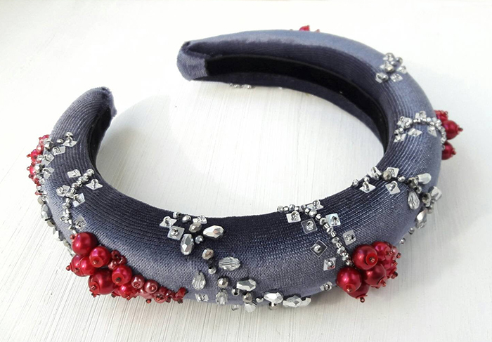 Winter Style Padded Headbands. Padded Headbands for Christmas Party. Padded Headband for Winter Wedding Guest. What to wear to a Winter Wedding. Autumn Winter Fashion Trends 2020. Fashionable Winter outfits
