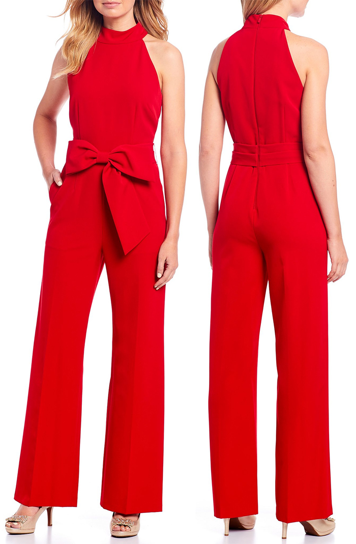 Red Jumpsuit for the Kentucky Derby. Red Jumpsuit Dress for Spring Weddings. Run for the Roses outfits 2021. What to wear to the Kentucky Derby 2021. Jumpsuit for Spring wedding 2021. Red outfits for the Kentucky Derby