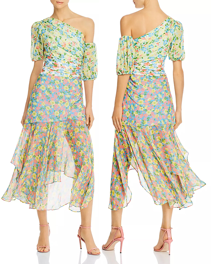 Amur Floral Chiffon Dress. Dress for the Kentucky Derby 2020. Chiffon Silk Floral Dress. Best Dresses for the Kentucky Derby 2020. Spring Wedding Guest Dresses 2020
