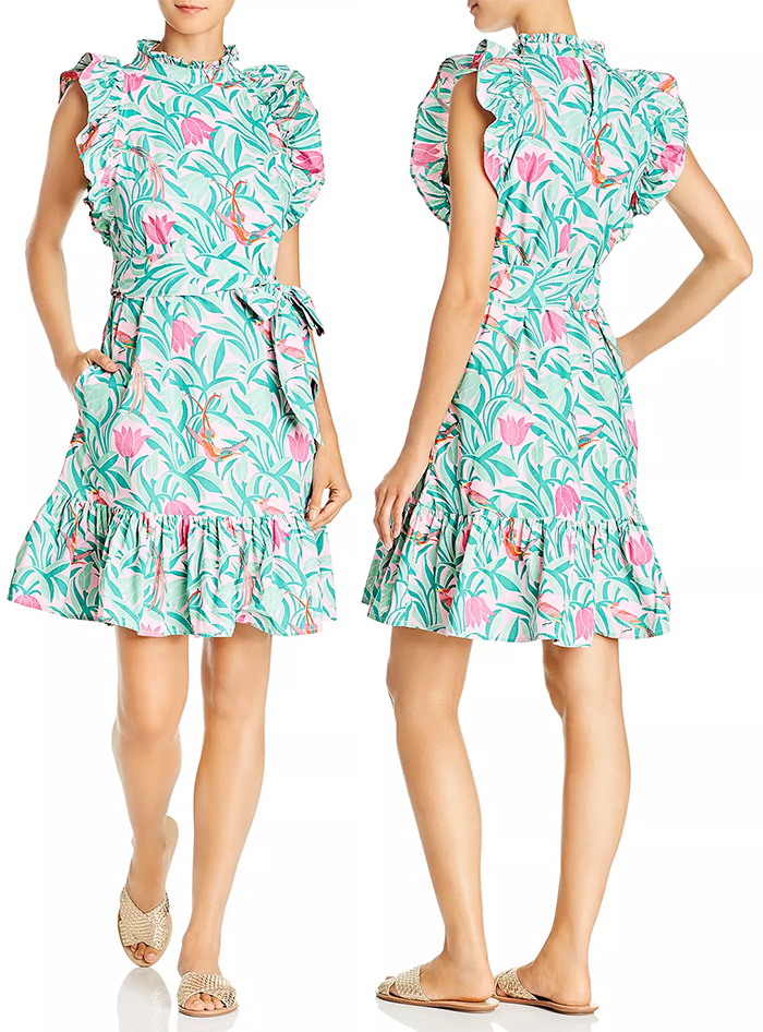 Tropical Print Dress 2020. Banjanan Dresses 2020. Fun Dress for the Kentucky Derby 2020. Colorful Dress for Kentucky Derby 2021. Dress for a Kentucky Derby Party 2021. What to wear to the Kentucky Derby 2020. Kentucky Derby outfit ideas 2021. Dresses for Ladies Day at the Races 2021. Mid Price Dresses for the Kentucky Derby