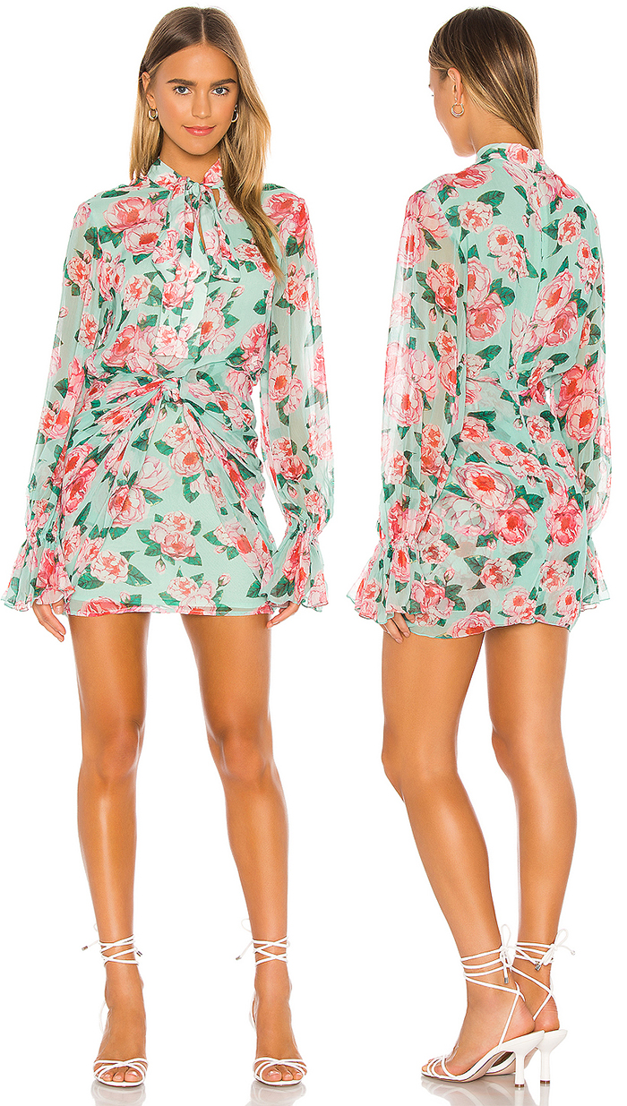 Floral dress for Kentucky Derby Party 2021. What to wear for a Kentucky Derby Party 2020. Kentucky Derby Garden Party ideas 2021. Floral Fashion 2020. Outfit inspiration for Kentucky Derby 2021. Dresses for the Kentucky Derby 2021