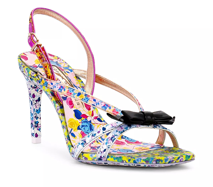 Sophia Webster Laurielle Floral Shoes. What to wear to the Kentucky Derby 2021. Kentucky Derby outfits 2021. Outfits for the Races 2021. Shoes for summer wedding guest. Floral Shoes 2021.